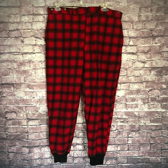 1e10d74ee555f Vintage WOOLRICH red buffalo plaid pants. M_5bf9872bc89e1d149fb56318